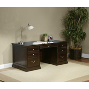 "Martin Furniture 68"" Double Pedestal Executive Desk - Fulton Office Series"