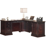 "Martin Furniture 68"" Desk L-Shaped Desk - Fulton Office Series"