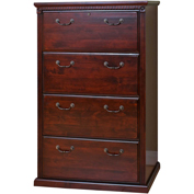 Martin Furniture Huntington Club 4-Drawer Lateral File Cabinet - kathy ireland Home Series