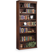 "Martin Furniture Huntington Oxford Burnish 84"" Open Bookcase - kathy ireland Home Series"
