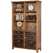 "Martin Furniture 72""H Wooden Bookcase - Heritage Series"