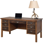 Martin Furniture Half Pedestal Desk - Heritage Series