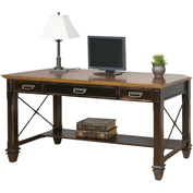 "Martin Furniture 60""W Wooden Writing Desk - Hartford Series"