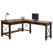 Martin Furniture Open L-Shaped Desk - Hartford Series