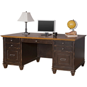 Martin Furniture Double Pedestal Desk - Hartford Series