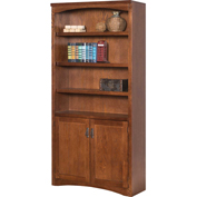 Martin Furniture Mission Pasadena Library Bookcase - kathy ireland Home Series