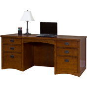 Martin Furniture Double Pedestal Executive Desk - Mission Pasadena Office Series