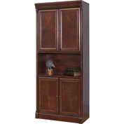 "Martin Furniture 79""H Mount View 4-Door Bookcase - kathy ireland Home Series"