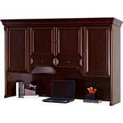 Martin Furniture Storage Hutch with pull-out task light - Mount View Office Series