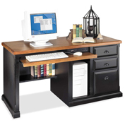Martin Furniture Single Pedestal Computer Desk Southampton Onyx Office Series
