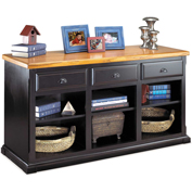 Martin Furniture 3-Drawer Console - Southampton Onyx Office Series