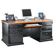 Martin Furniture Double Pedestal Computer Desk Southampton Onyx Office Series