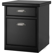 Martin Furniture Tribeca Loft Black Rolling File Cabinet - kathy ireland Home Series