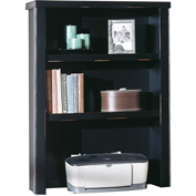 Martin Furniture Black Open Hutch - Tribeca Loft Office Series