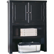 Martin Furniture Black Hutch with Doors - Tribeca Loft Office Series