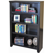 "Martin Furniture Tribeca Loft Black 48"" Bookcase - kathy ireland Home Series"