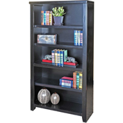 "Martin Furniture Tribeca Loft Black 60"" Bookcase - kathy ireland Home Series"