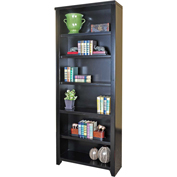 "Martin Furniture Tribeca Loft Black 84"" Bookcase - kathy ireland Home Series"
