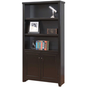 Martin Furniture Tribeca Loft Black Library Bookcase - kathy ireland Home Series