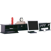Martin Furniture Black Long Reception Hutch - Tribeca Loft Office Series