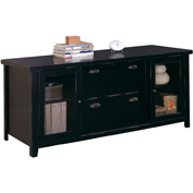Martin Furniture Black Storage Credenza - Tribeca Loft Office Series