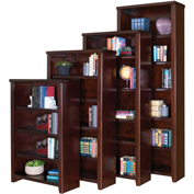 "Martin Furniture Tribeca Loft Cherry 48"" Bookcase - kathy ireland Home Series"