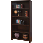 "Martin Furniture Tribeca Loft Cherry 70"" Bookcase - kathy ireland Home Series"