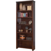 "Martin Furniture Tribeca Loft Cherry 84"" Bookcase - kathy ireland Home Series"