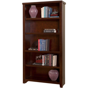 Martin Furniture Tribeca Loft Cherry Open Bookcase - kathy ireland Home Series