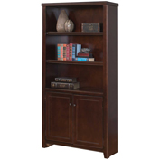Martin Furniture Tribeca Loft Cherry Library Bookcase - kathy ireland Home Series