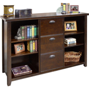 Martin Furniture Cherry 3-Drawer File Cabinet with Shelves - kathy ireland Home Series