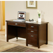 Martin Furniture Cherry Single Pedestal Desk - Tribeca Loft Office Series