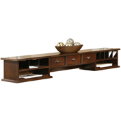 Martin Furniture Cherry Long Reception Hutch with 3-Drawers - Tribeca Loft Office Series