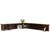 Martin Furniture Cherry Reception Hutch and return - Tribeca Loft Office Series