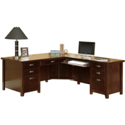 "Martin Furniture Cherry Right 68"" Desk and Return Combined Price - Tribeca Loft Office Series"