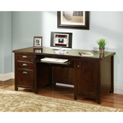 Martin Furniture Cherry Double Pedestal Computer Desk - Tribeca Loft Office Series