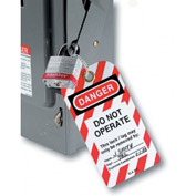 "Master Lock® Safety ""Do Not Operate"" Lockout Tagout Tags, English, 12/Bag, 497A"
