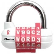 Master Lock® Pink Combination Letter/Number Padlock - No. 1534DPNK - Pkg Qty 16