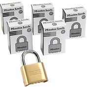 Master Lock® Bottom Resettable Combination Padlocks - No. 175 - Pkg Qty 3