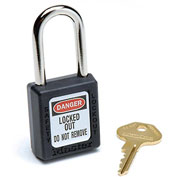 Master Lock® Safety 410 Series Safety Zenex™ Thermoplastic Padlock, Black, 410BLK - Pkg Qty 6