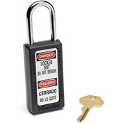 Master Lock® Safety 411 Series Zenex™ Thermoplastic Padlock, Black, 411BLK