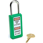 Master Lock® Safety 411 Series Zenex™ Thermoplastic Padlock, Green, 411GRN