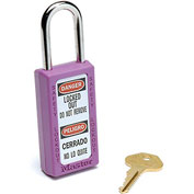 Master Lock® Safety 411 Series Zenex™ Thermoplastic Padlock, Purple, 411PRP
