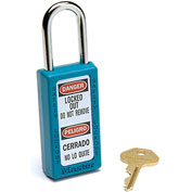 Master Lock® Safety 411 Series Zenex™ Thermoplastic Padlock, Teal, 411TEAL