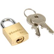 Master Lock® General Security Brass Solid Body Padlocks - No. 4120 - Pkg Qty 3