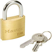 Master Lock® General Security Brass Solid Body Padlocks - No. 4140ka - #3231 - Pkg Qty 3