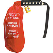 "Master Lock® 453XL 26"" Oversized Plug & Control Lockout Cinch Sack, Nylon, XL"