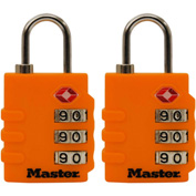 "Master Lock® TSA-Accept Combination Zinc Padlock, 1-3/8""W, No. 4684T, Assorted Colors, 2-pack - Pkg Qty 4"