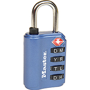 Master Lock® TSA-Accept Set-Your Own Combination Zinc Padlock, No. 4691DWD, Assorted Colors - Pkg Qty 4