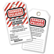 """Master Lock® Safety  """"Danger - Do Not Operate"""" Lockout Tags , Spanish/English Pkg Qty 12, 497AX"""